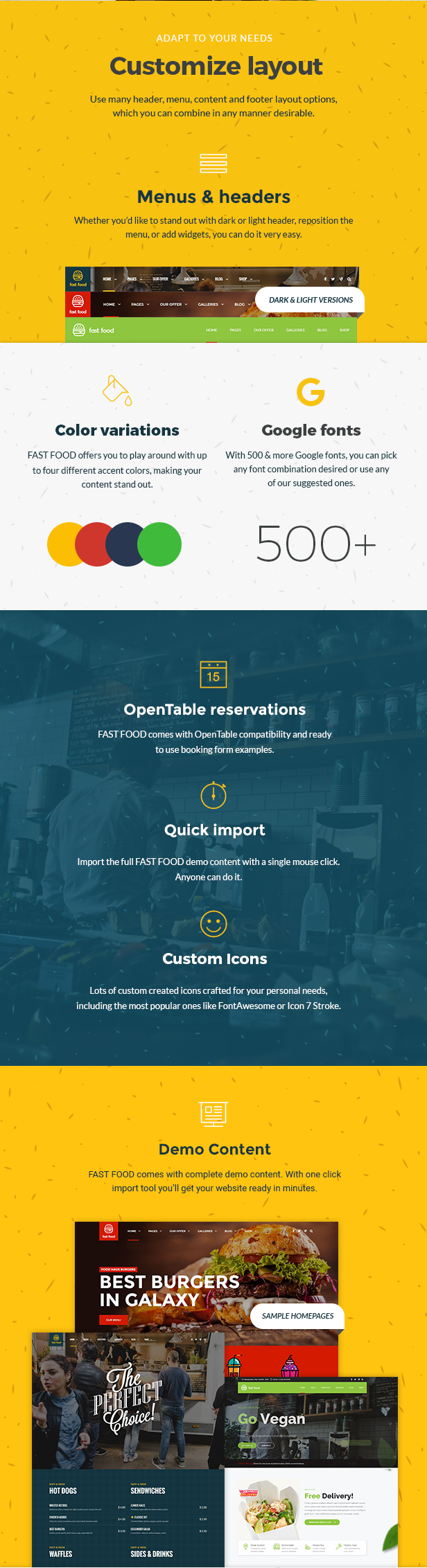 Fast Food WordPress Theme - 2
