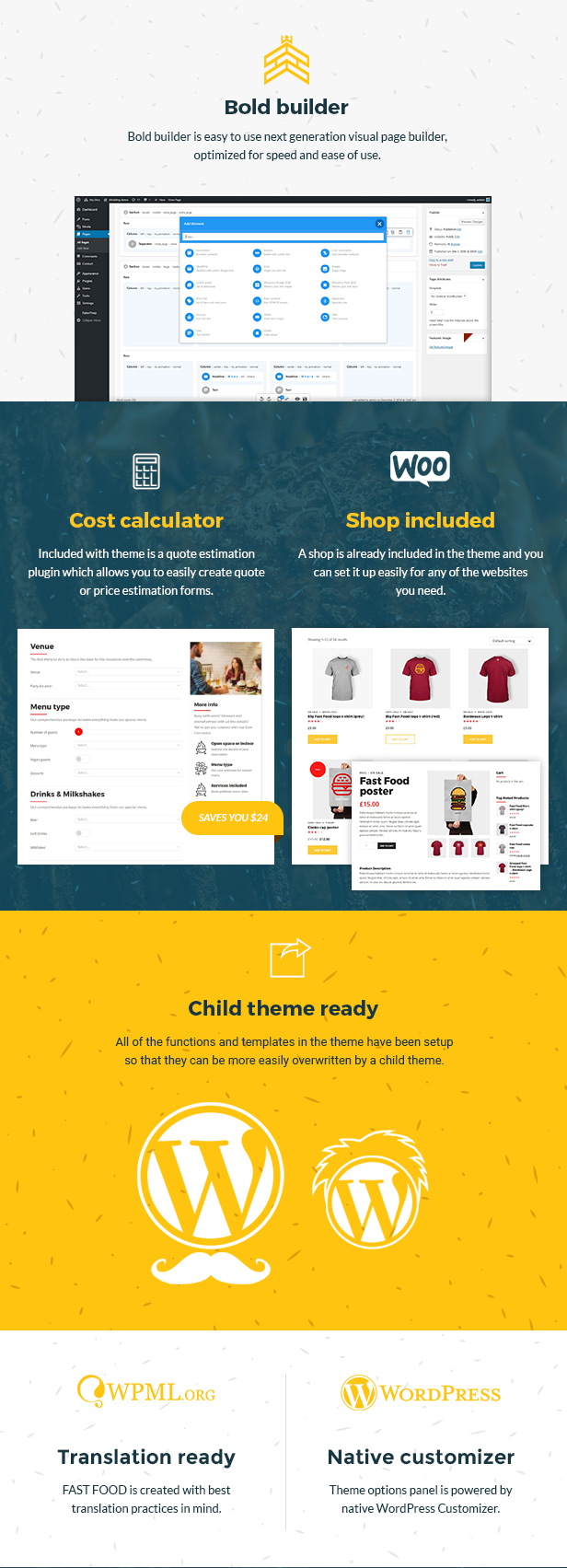 Fast Food WordPress Theme - 3
