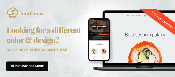 Fast Food WordPress Theme - 4